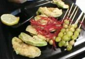 Pan Fried Avocado With Ginkgo Nut Skewers 